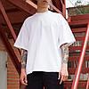 Футболка чоловіча біла оверсайз бренд ТУР модель Горо (Goro)