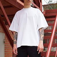 Футболка чоловіча біла оверсайз бренд ТУР модель Горо (Goro), фото 1