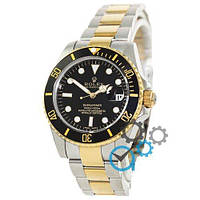 Механічні чоловічі годинники Rolex Submariner AAA Date Silver-Gold-Black ( AAA )