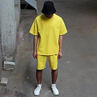Річний комплект: жовта футболка чоловіча Quil (Квил)+ жовті шорти чоловічі Duncan (Дункан) S, M, L, XL, фото 1