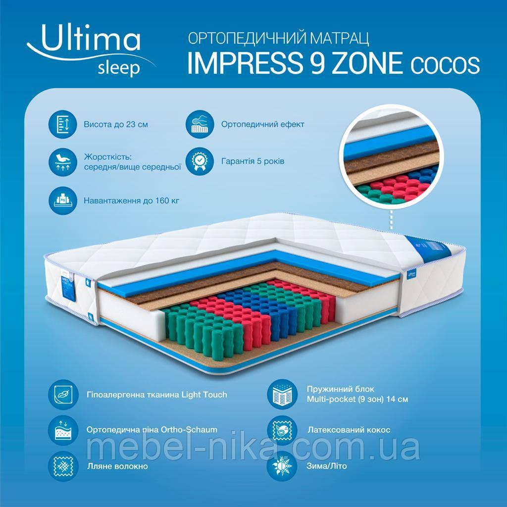 Матрас impress 9 zone cocos 1.6х2.0