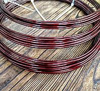 Проволока Алюминий Коричневый 2.0 мм - 1 метр для бижутерии, фото 1