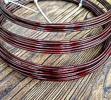 Проволока Алюминий Коричневый 2.0 мм - 1 метр для бижутерии