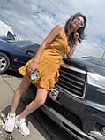 Летнее легкое шифоновое платье в горох, фото 2