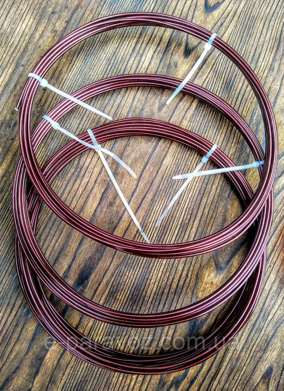 Проволока Алюминий Коричневый 2.0 мм - 10 метров для бижутерии