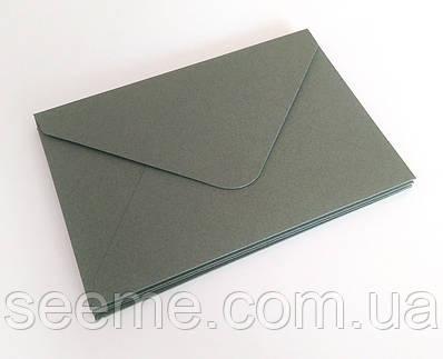 Конверт 175x125 мм, колір сірий