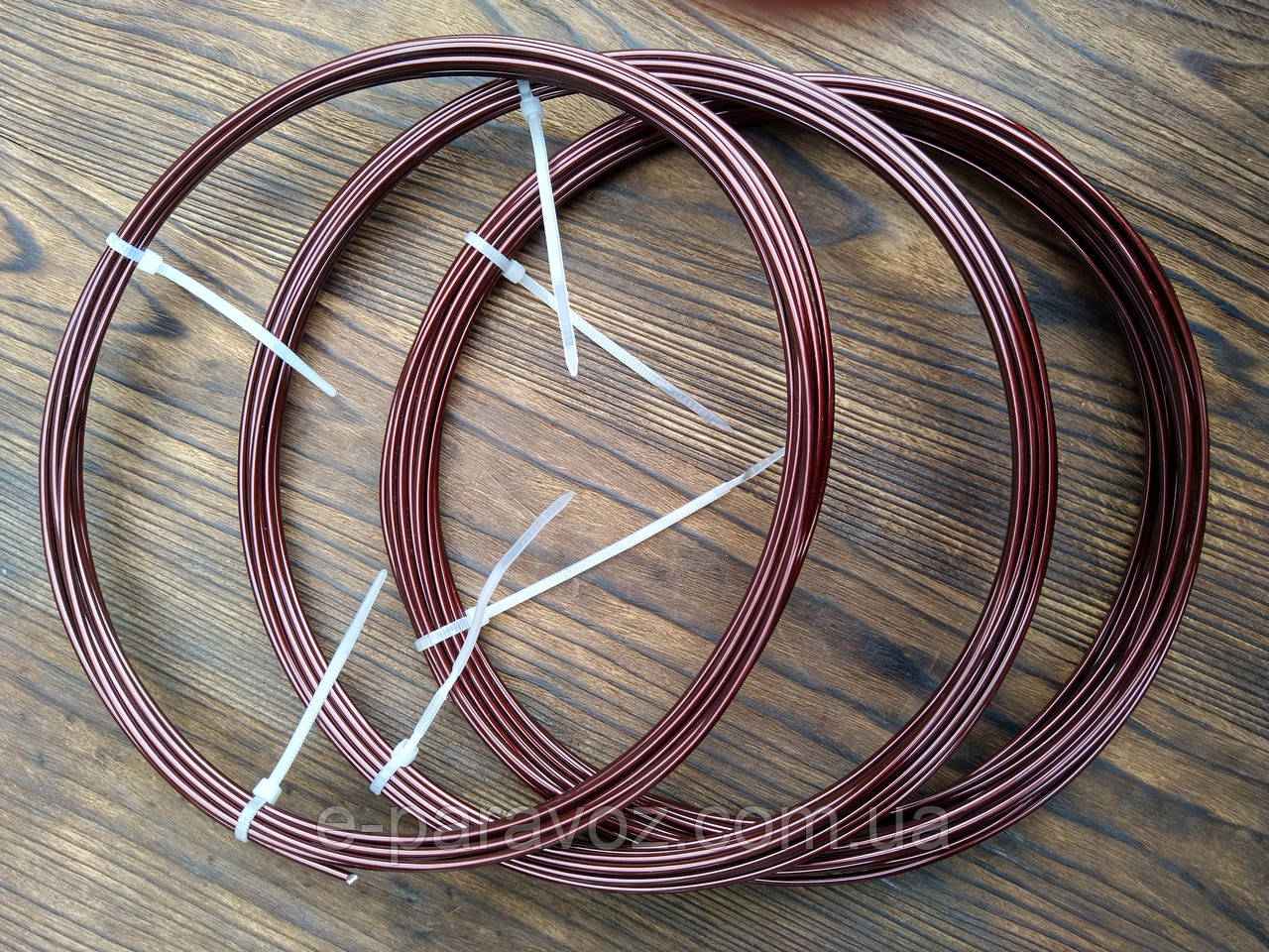 Дріт Алюміній Коричневий 2.0 мм - 50 метрів для біжутерії