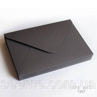 Конверт 175x125 мм, колір темно-сірий (obsidian)