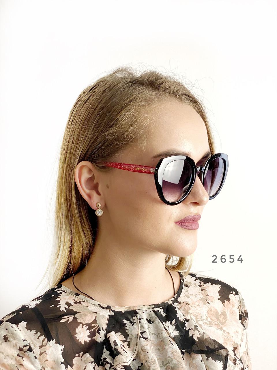 Стильные черные очки jimmy choo с красными дужками
