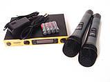 Радиосистема SH-588D, база, 2 микрофона, фото 3