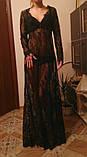 Сексуальне мереживне довге плаття, фото 4