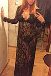 Сексуальне мереживне довге плаття, фото 7