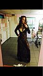 Сексуальне мереживне довге плаття, фото 8
