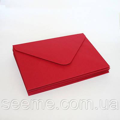 Конверт 175x125 мм, колір вишнево-червоний (cherry red)