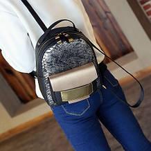 Женский городской рюкзак, черный кожаный рюкзачок для женщин, молодежный рюкзак на каждый день для девушки