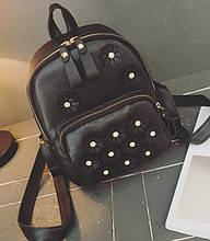 Женский городской рюкзак с цветами Женский мини рюкзак сумочка маленький рюкзачок модный стильный