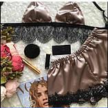 Женская пижама с кружевом лиф и шортики., фото 3