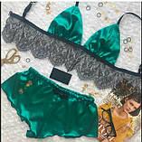 Женская пижама с кружевом лиф и шортики., фото 4