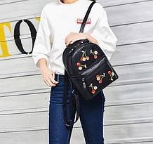 Модный женский рюкзак с вышивкой,маленький стильный черный  рюкзачок для девушек  женщин