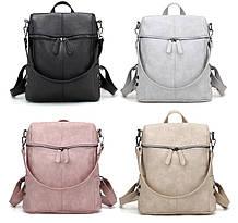 Стильный женский рюкзак сумка. Женский городской рюкзак качественный и вместительный черный белый розовый