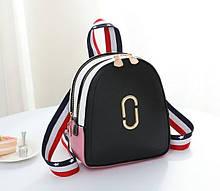 Стильный женский мини рюкзак . Молодежный женский рюкзак на каждый день, городской рюкзачок для девушек Черный
