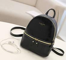 Женский мини рюкзак. Маленький женский рюкзачок на плечи, вместительный рюкзак- сумка для девушек Черный
