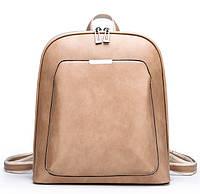 Женский городской классический рюкзак. Сумка-рюкзак женская черный коричневый