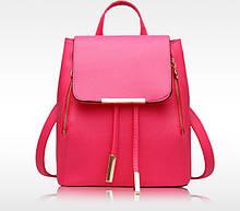 Качественный женский рюкзак, стильный модный оригинальный рюкзак-сумка для женщин Красно-розовый