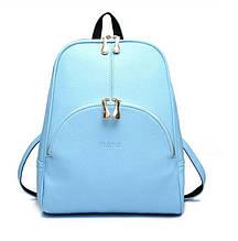 Городской женский рюкзак,молодежный рюкзак- сумка на каждый день,стильный рюкзачок для девушек Голубой