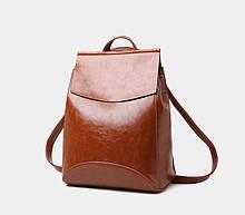 Женский мини рюкзак экокожа Молодежный рюкзак на каждый день, городской рюкзачок для девушек черный коричневый