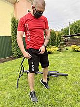 Спортивный мужской костюм лето в стиле Адидас футболка+ шорты летний спортивный костюм для занятий спортом