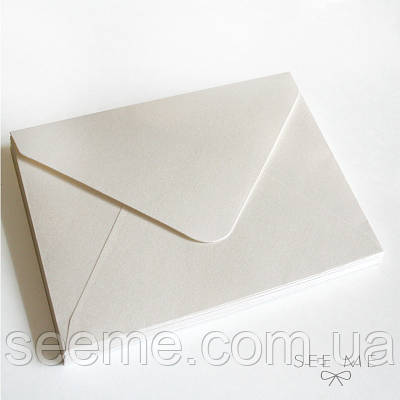 Конверт 175x125 мм, колір білий