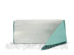 Полотенце бумажное V-сложения зеленое