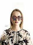 Стильные солнцезащитные очки цвет пудри, фото 2