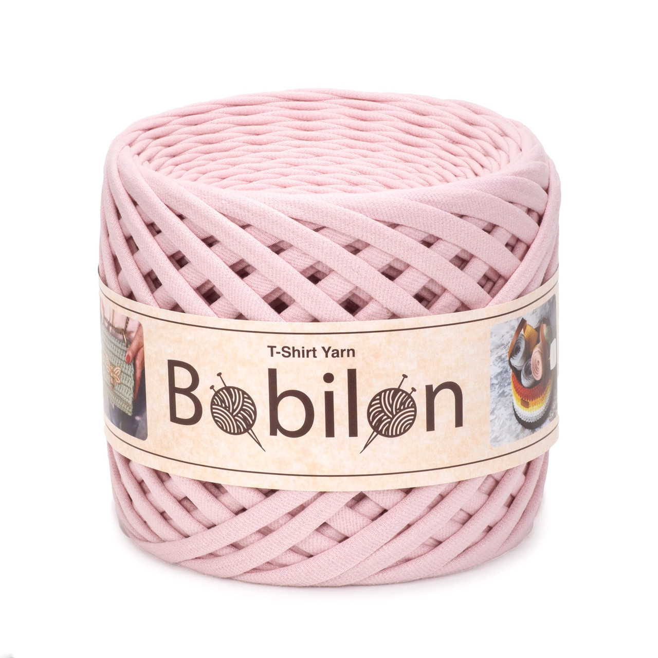 Трикотажная пряжа Bobilon Medium (7-9 мм) Macaroon Зефирка
