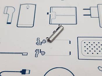 Кнопка включения Samsung A30 2019 A305F серебро Сервисный оригинал с разборки