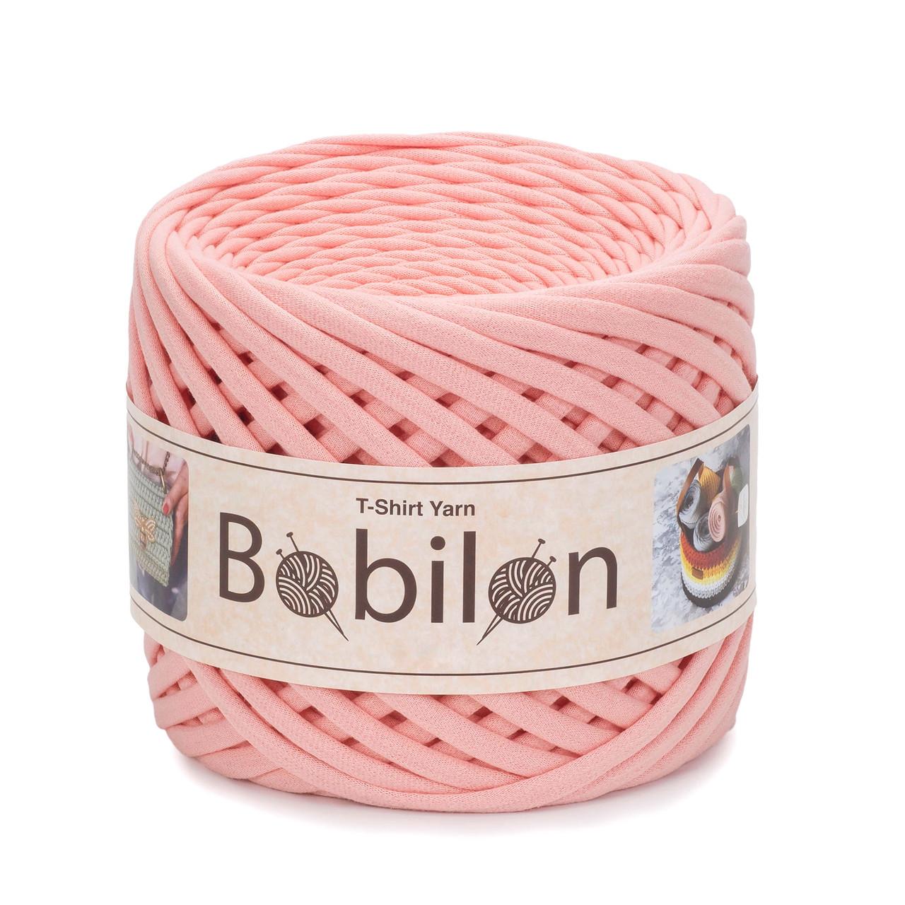 Трикотажная пряжа Bobilon Mini (5-7 мм) Marshmallow Персик