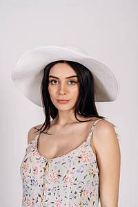 Шляпка широкополая Алиса оптом SHL-2003 белая