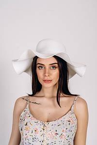 Шляпка широкополая Кассандра оптом SHL-2002 белая