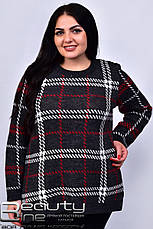 Синий теплый свитер для полных Стимул, фото 3