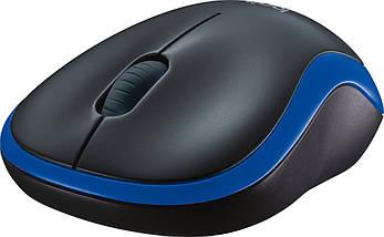 Бездротова мишка Logitech M185, чорна/синя, миша для ноутбука логітеч/лоджитек/логітек, фото 2