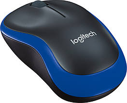 Бездротова мишка Logitech M185, чорна/синя, миша для ноутбука логітеч/лоджитек/логітек, фото 3