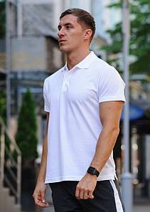 Біла чоловіча футболка поло / купити сорочку поло