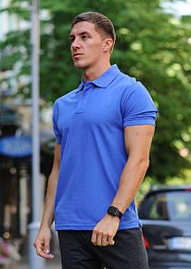 Синя чоловіча футболка поло / купити сорочку поло