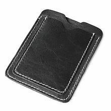 Кожаный картхолдер на 2 отделения черный