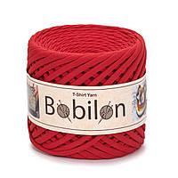 Трикотажная пряжа Bobilon Medium (7-9 мм) Lady in Red Красный мак