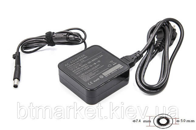 Блок питания для ноутбуков PowerPlant DELL 220V, 19.5V 90W 4.62A (7.4*5.0) wall mount, фото 2