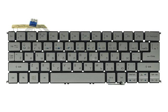Клавиатура для ноутбука ACER Aspire S7-191 подсветка клавиш, серебристый, без фрейма, фото 2