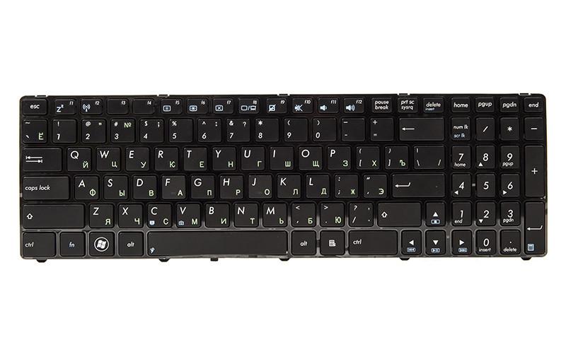 Клавиатура для ноутбука ASUS K52, K52J, K52JK черный, черный фрейм