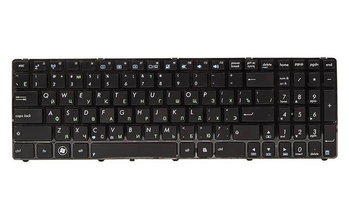 Клавиатура для ноутбука ASUS K52, K52J, K52JK черный, черный фрейм, фото 2